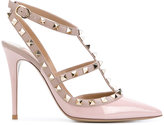 Valentino Garavani studded T-strap pumps - women - Leather/Patent Leather - 35