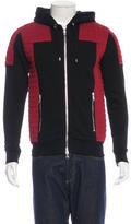 Balmain Quilted Zip Sweatshirt w/ Tags