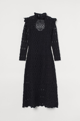 H&M Crocheted Long Dress