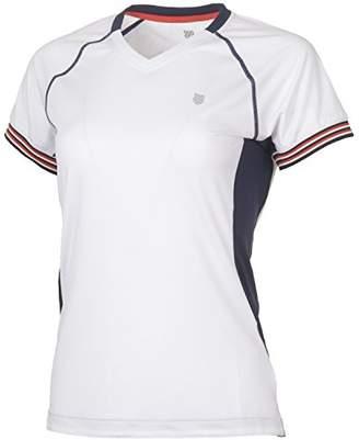 K-Swiss Heritage Women's Short-Sleeved T-Shirt, Womens, 191909-100-L,L