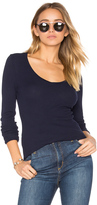 Bobi Modal Thermal V Neck Long Sleeve Top