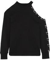 Christopher Kane Cutout Embellished Cotton-jersey Sweatshirt - x large
