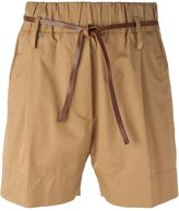 Forte Forte belted high-waist shorts