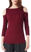 Michael Stars Women's Rib Knit Cold Shoulder Top