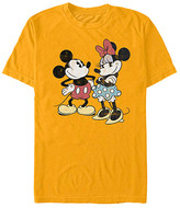 Fifth Sun Tee Shirts GOLD - Mickey Mouse Gold Retro Mickey & Minnie Tee - Adult