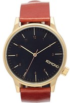 Komono 'Winston Regal' Leather Strap Watch, 41mm