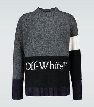Off-White Colorblocked crewneck sweater