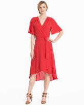 White House Black Market Short Sleeve High-Low Wrap Dress