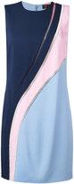 Versace crystal-mesh colour block dress - women - Silk/Polyamide/Spandex/Elastane/metal - 44