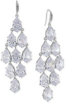 Carolee Silver-Tone Crystal Chandelier Earrings