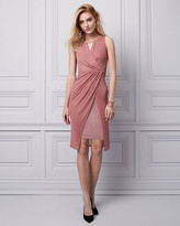 Le Château Sparkle Knit Wrap-Like Dress