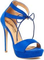 Elegant Footwear Dotty Platform Lace-Up Sandal