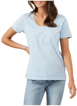 French Connection Classic Scoop Neck Tee Pale