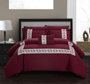 Chic Home Titian 8 Piece Queen Bed In a Bag Comforter Set Bedding