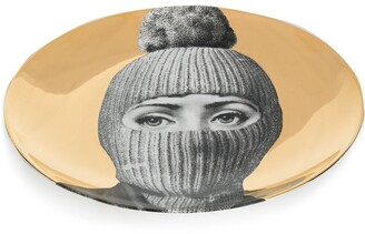 Fornasetti masked woman plate