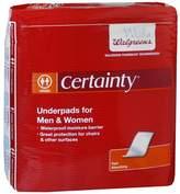 Walgreens Certainty Men's & Women's Underpads Moderate Absorbency Regular