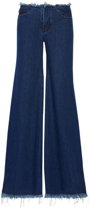 Marques Almeida Frayed Low-rise Flared Jeans
