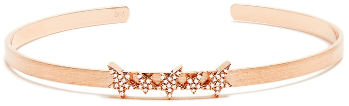 Diane Kordas Diamond & rose-gold Cosmos Star cuff