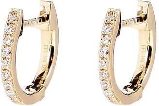 Ef Collection Mini Diamond Huggie Hoop Earrings
