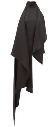 Petar Petrov Carmo Asymmetric Halterneck Silk-twill Blouse - Black