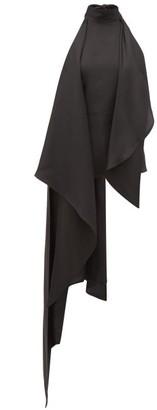 Petar Petrov Carmo Asymmetric Halterneck Silk-twill Blouse - Womens - Black