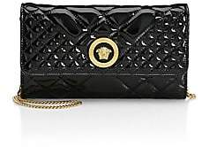 Versace Women's Borsa Vernice Patent Leather Chain Wallet