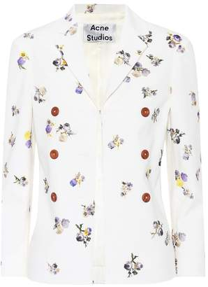 Acne Studios Jilva floral-printed corduroy jacket