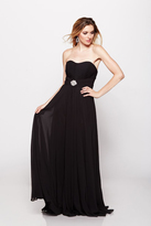 Milano Formals - Strapless Sweetheart Long Gown With Vertical Ruched Bust E1696