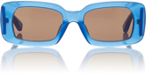 Dries Van Noten Blue Rectangular Acetate Sunglasses