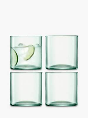 LSA International Canopy Recycled Glass Tumblers, Set of 4, 350ml, Clear