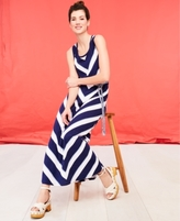Style&Co. Style & Co Style & Co Petite Chevron Striped Maxi Dress, Created for Macy's