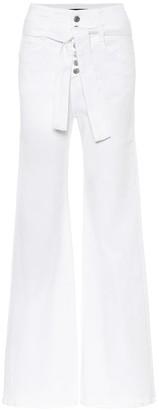 Veronica Beard Rosanna Corset high-rise jeans