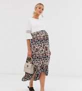 Mama Licious Mama.Licious Mamalicious maternity paisley print midi skirt