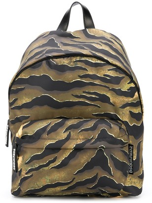 DSQUARED2 Tiger-Print Backpack