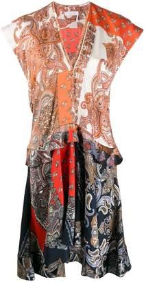 Chloé Paisley Print Panelled Dress