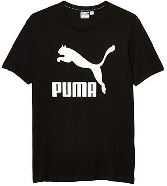 Puma Classics Logo Tee Black) Men's Clothing
