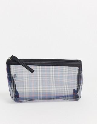 Ichi sheer mesh check clutch purse-Multi