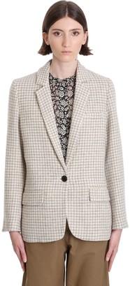 Etoile Isabel Marant Charly Blazer In Beige Wool