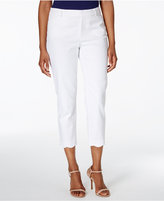Charter Club Scallop-Hem Piqué Capri Pants, Only at Macy's