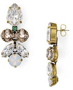 Sorrelli Crystal Lotus Flower Earrings