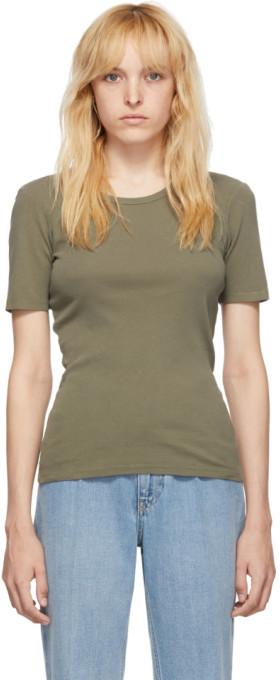 Our Legacy Green Slim Rib T-Shirt
