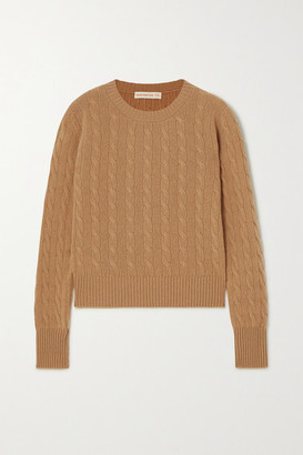 &Daughter + Net Sustain Nora Cable-knit Cashmere Sweater - Camel