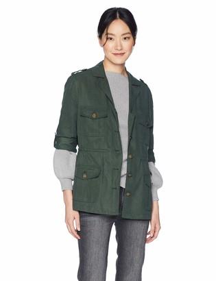 Cupcakes And Cashmere Women's Brannen Tencel Army Jacket Medium