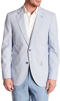 Tailorbyrd Blue Pinstripe Two Button Notch Lapel Sport Coat