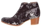 Sigerson Morrison Sequined Round-Toe Ankle Boots