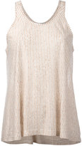 Forte Forte striped top - women - Linen/Flax - 0