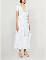 LoveShackFancy Carlton floral-print cotton midi dress