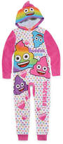 EMOJI, INC. Emoji, Inc. Long Sleeve One Piece Pajama-Big Kid Girls