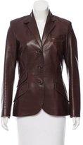 Ralph Lauren Leather Notch-Lapel Blazer