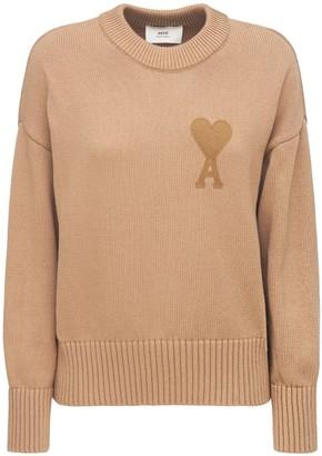 AMI Paris Ami De Coeur Cotton & Wool Knit Sweater